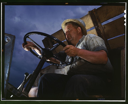 Truck driver at TVA's Douglas Dam, Tennessee