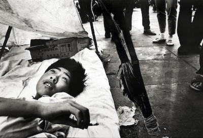 Resting Student – Tiananmen Square, Beijing