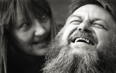 Robert Wyatt and Poet and Painter Alfreda Benge ~ London